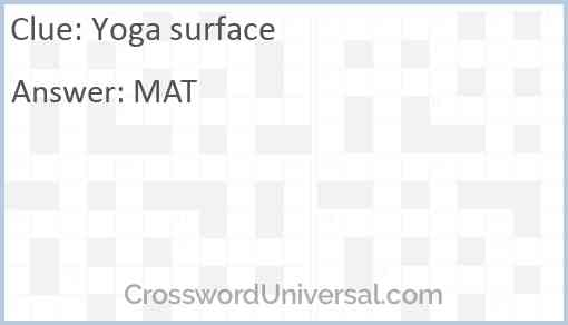 Yoga surface Answer