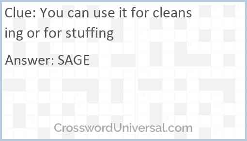You can use it for cleansing or for stuffing Answer