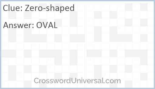 Zero-shaped Answer